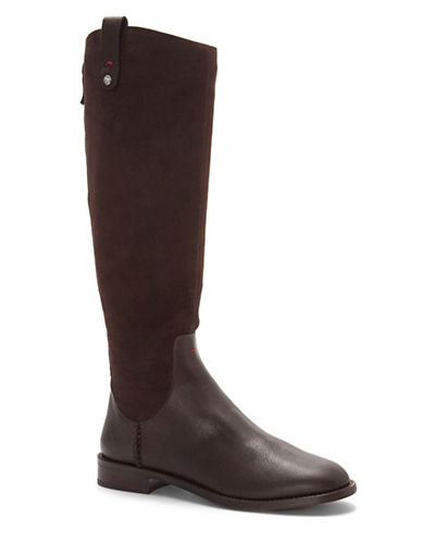 Ed Ellen Degeneres Zoila High Shaft Riding Boots-BROWN-9