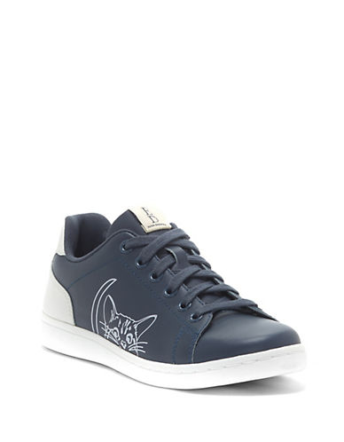 Ed Ellen Degeneres Chapanimal Leather Sneakers-STEEL-8.5
