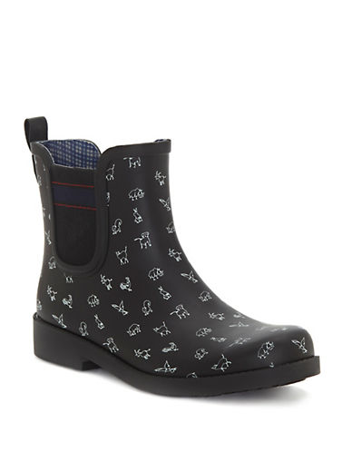 Ed Ellen Degeneres Wallita Rubber Rain Boots-NAVY-8