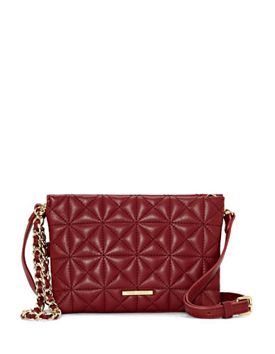 Vince Camuto Doyle Leather Crossbody Bag-RED-One Size