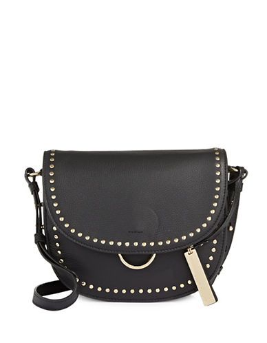Vince Camuto Elyna Flap Leather Crossbody Bag-BLACK-One Size
