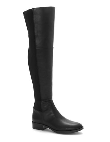 Vince Camuto Prisilie Knee-High Leather Boots-BLACK-9.5