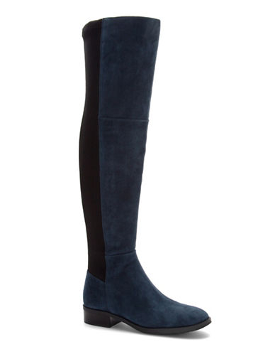 Vince Camuto Prisilie Colourblock Suede Combo Boots-NAVY-6.5