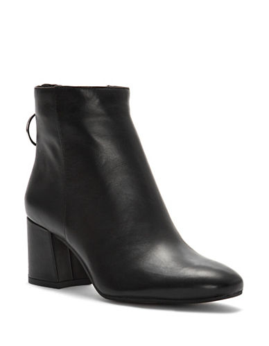 Vince Camuto Kalanya Leather Booties-BLACK-5.5