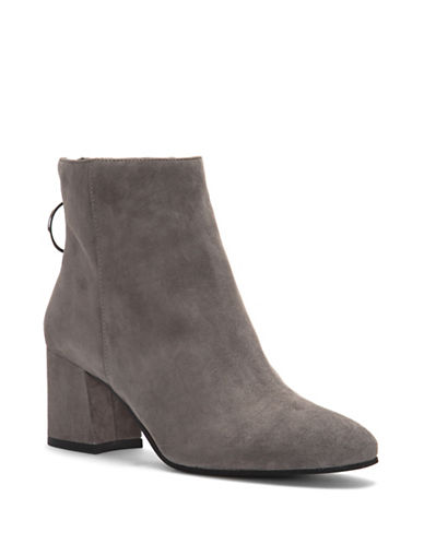 Vince Camuto Kalanya Leather Booties-GREY-6.5