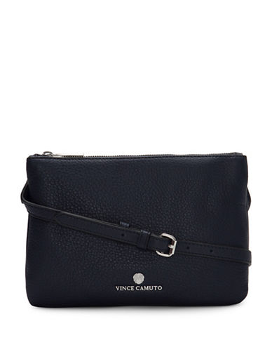 Vince Camuto Gayla Double Top Zip Crossbody Bag-NAVY-One Size
