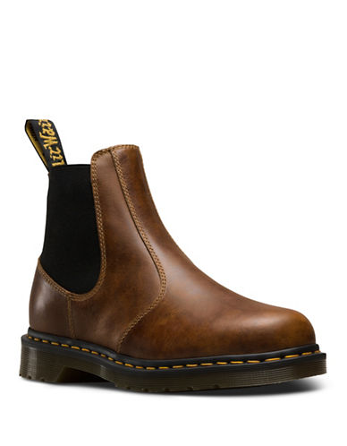 Dr. Martens Hardy Leather Chelsea Boots-BROWN-7