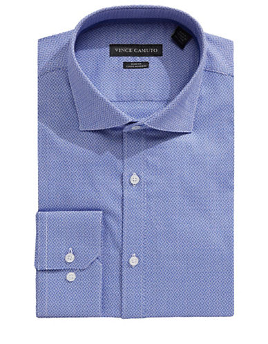 Vince Camuto Mosaic Dobby Dress Shirt-BLUE-17.5-32/33