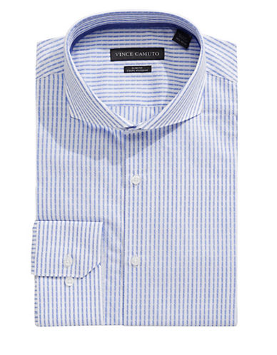 Vince Camuto Dobby Stripe Dress Shirt-BLUE-16.5-34/35