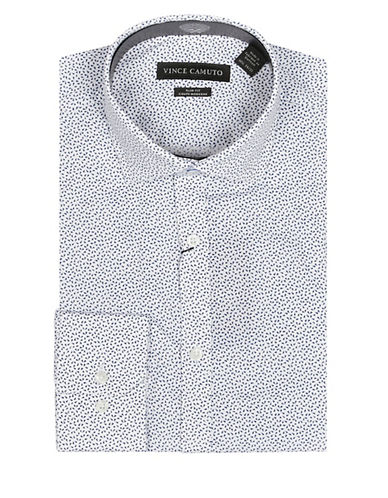 Vince Camuto Confetti Print Wrinkle Free Slim Fit Dress Shirt-BLUE-17-32/33