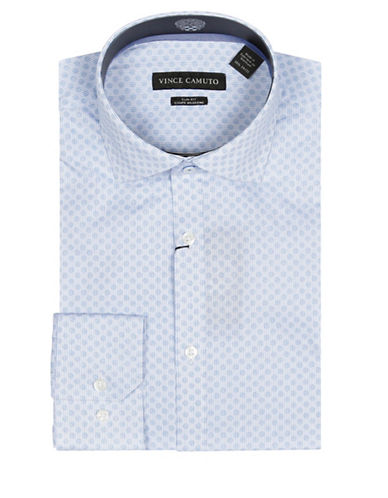 Vince Camuto Striped Wrinkle Free Slim Fit Dress Shirt-BLUE-15.5-32/33