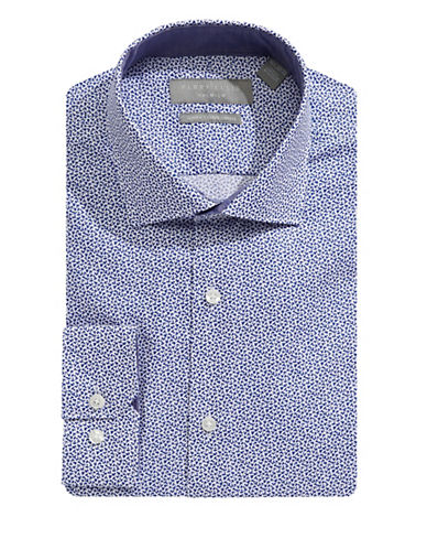 Perry Ellis Slim-Fit Floral Dress Shirt-BLUE-15.5-34/35