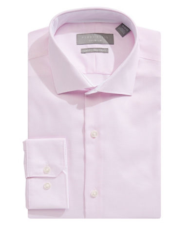 Perry Ellis Slim Fit Nailhead Dress Shirt-ROSE-16.5-32/33