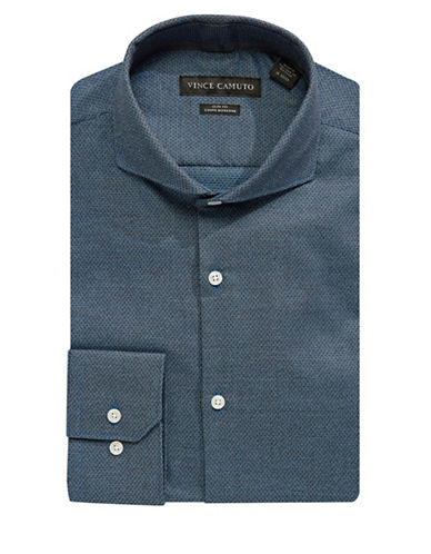 Vince Camuto Textured Slim Fit Shirt-BLUE-16-32/33