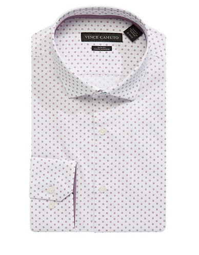 Vince Camuto Check Box Slim Fit Shirt-RUBY-15.5-32/33