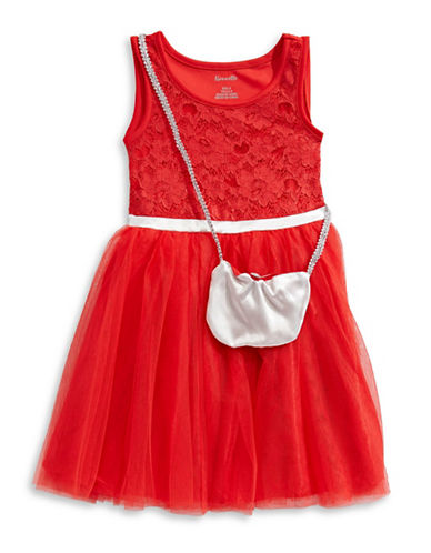 Nannette Two-Piece Purse and Lace Dress Set-RED-6X