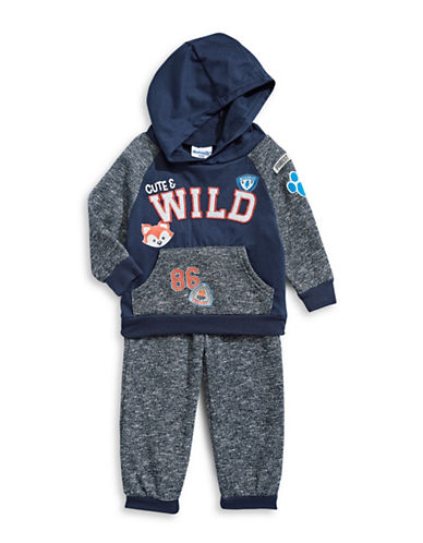 Nannette Two-Piece Wild Hoodie and Jogger Pants Set-BLUE-18 Months