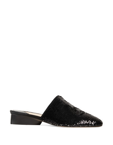 Paul Andrew Pisa Two-Tone Sequin Mules-BLACK-EUR 40/US 10