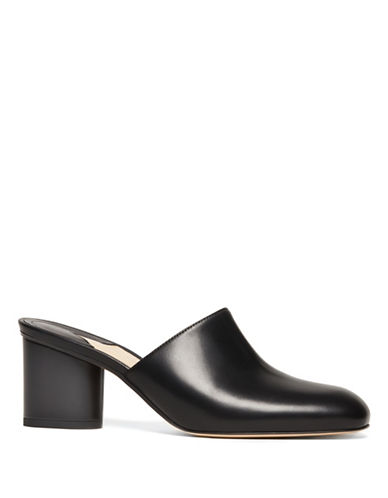 Paul Andrew Roma Leather Mules-BLACK-EUR 36.5/US 6.5