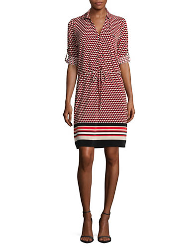 Tommy Hilfiger Cubism Jersey Shirtdress-MULTI-10