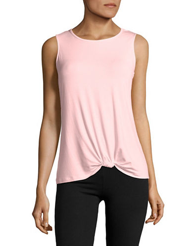 Ivanka Trump Knot Tank Top-LILAC-X-Large