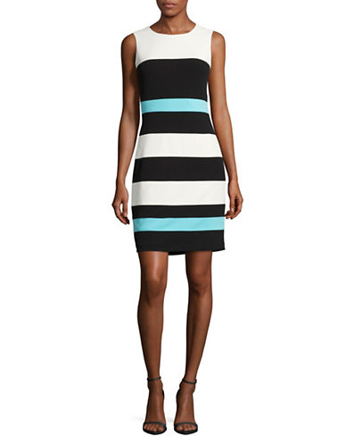 Tommy Hilfiger Colourblock Panel Sheath Dress-MULTI-14