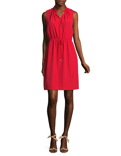 Ivanka Trump Sleeveless Keyhole Sheath Dress-CHILLI-8