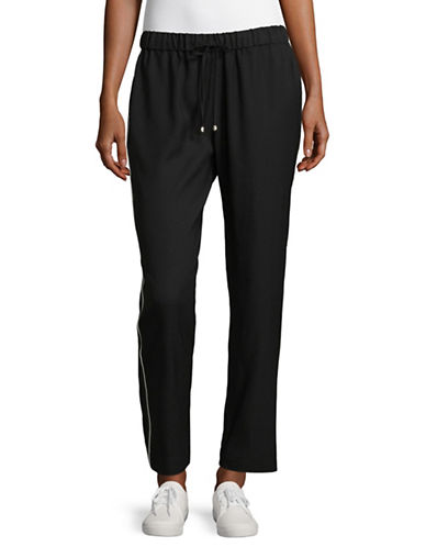 Ivanka Trump Relaxed Drawstring Trousers-BLACK-10