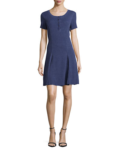 G.H. Bass & Co. Faded Waffle Dress-BLUE-Medium