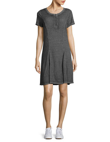 G.H. Bass & Co. Faded Waffle Dress-BLACK-X-Large