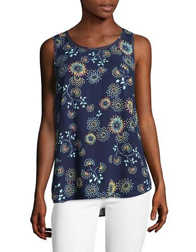 G.H. Bass & Co. Floral Burst Top-BLUE-Medium