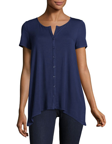 G.H. Bass & Co. Stretch T-Shirt-BLUE-Small