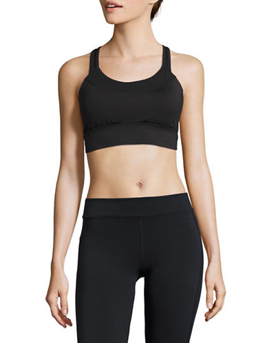 Ivanka Trump Racerback Sports Bra-BLACK-Large 89161922_BLACK_Large