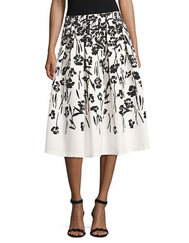 Miscellaneous Faille Floral Ball Skirt-BLACK/GREY-10 89171620_BLACK/GREY_10