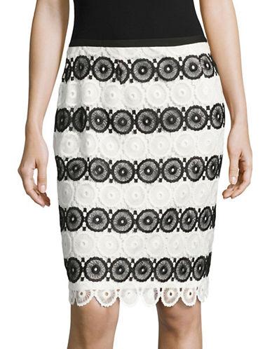 Miscellaneous Geo Lace Pencil Skirt-BLACK-10