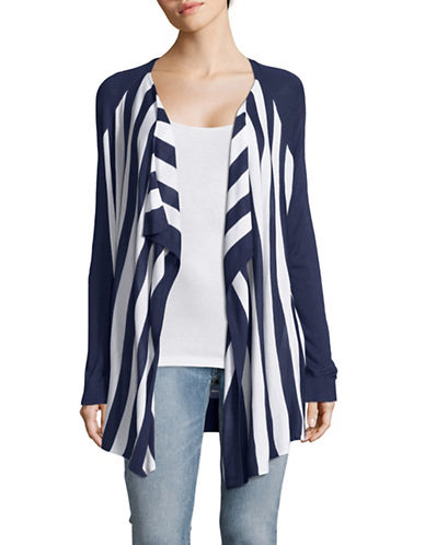 G.H. Bass & Co. Striped Fine Gauge Cardigan-BLUE-Small 89191213_BLUE_Small