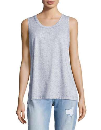 G.H. Bass & Co. Striped Lace Back Tank-BLUE-X-Small 89191197_BLUE_X-Small