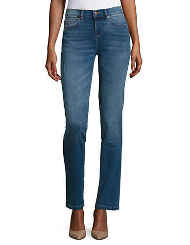 Karl Lagerfeld Paris Paris Straight-Leg Jeans-MEDIUM BLUE-10