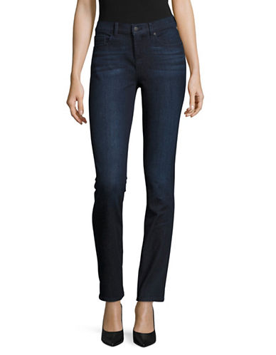 Karl Lagerfeld Paris Paris Straight-Leg Jeans-DARK BLUE-6