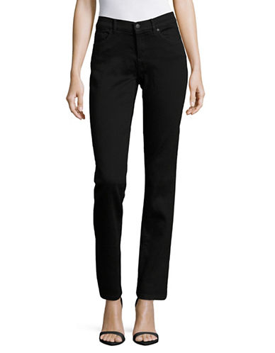 Karl Lagerfeld Paris Paris Straight-Leg Jeans-BLACK-16