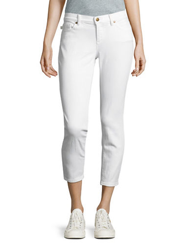 Karl Lagerfeld Paris Skinny Cropped Denim-WHITE-16