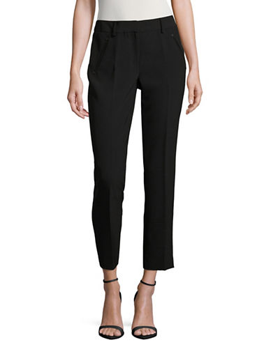 Karl Lagerfeld Paris Skinny Ankle Pants-BLACK-16