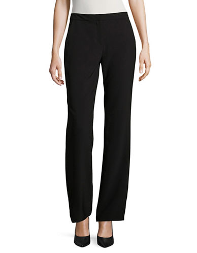 Karl Lagerfeld Paris Wide Leg Pants-BLACK-4