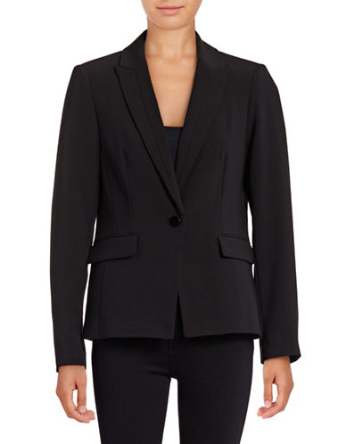 Karl Lagerfeld Paris Soft Boyfriend Blazer-BLACK-2
