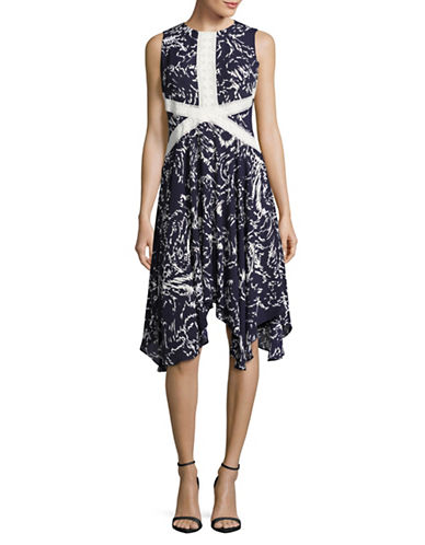 Ivanka Trump Crossover Lace Shift Dress-MULTI-6