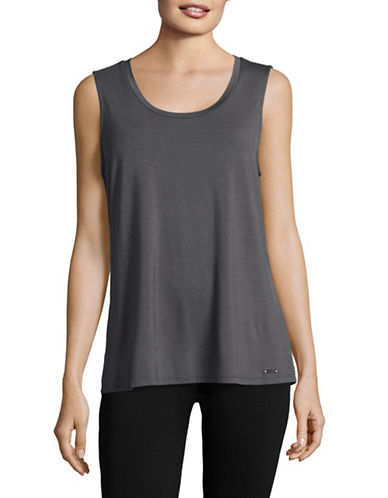 Ivanka Trump Lattice Back Tank-GREY-X-Large 89138925_GREY_X-Large