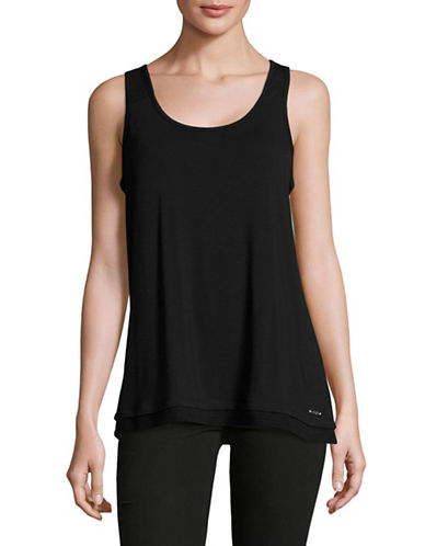 Ivanka Trump Perforated Panel Tank-BLACK-Medium 89138933_BLACK_Medium