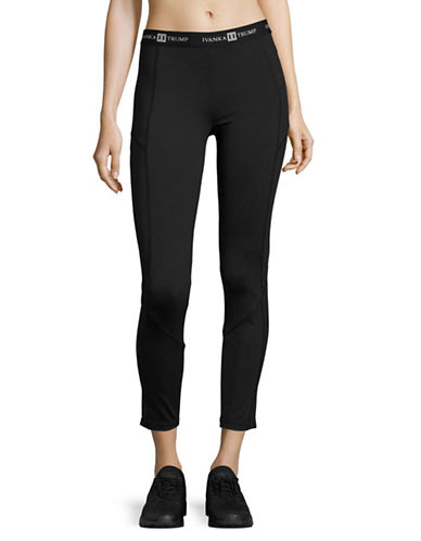 Ivanka Trump Logo-Waist Leggings-BLACK-Large