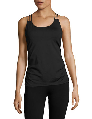 Ivanka Trump Performance Crisscross Tank-BLACK-X-Small 89139036_BLACK_X-Small