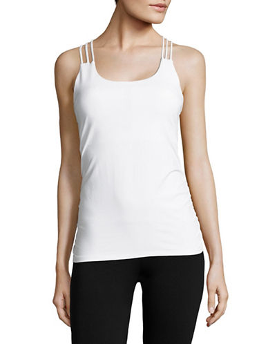 Ivanka Trump Performance Crisscross Tank-WHITE-Large
